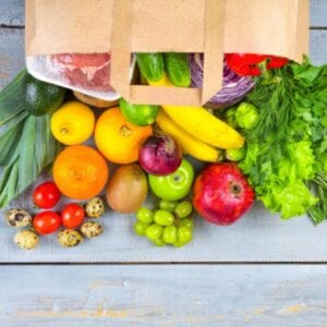 How To Make A Clean Eating Grocery List - bag of groceries
