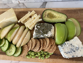 Healthy St. Patricks Day Charcuterie Board