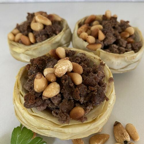 artichoke cups with ground beef