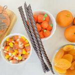 healthy halloween snack board